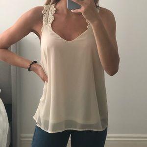 Ivory flowy shirt